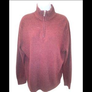 Dockers burgundy half zip mens sweater